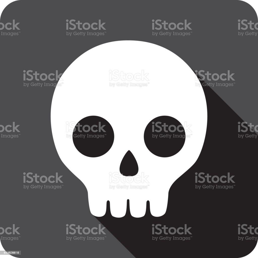 Cartoon Skull Icon Silhouette vector art illustration