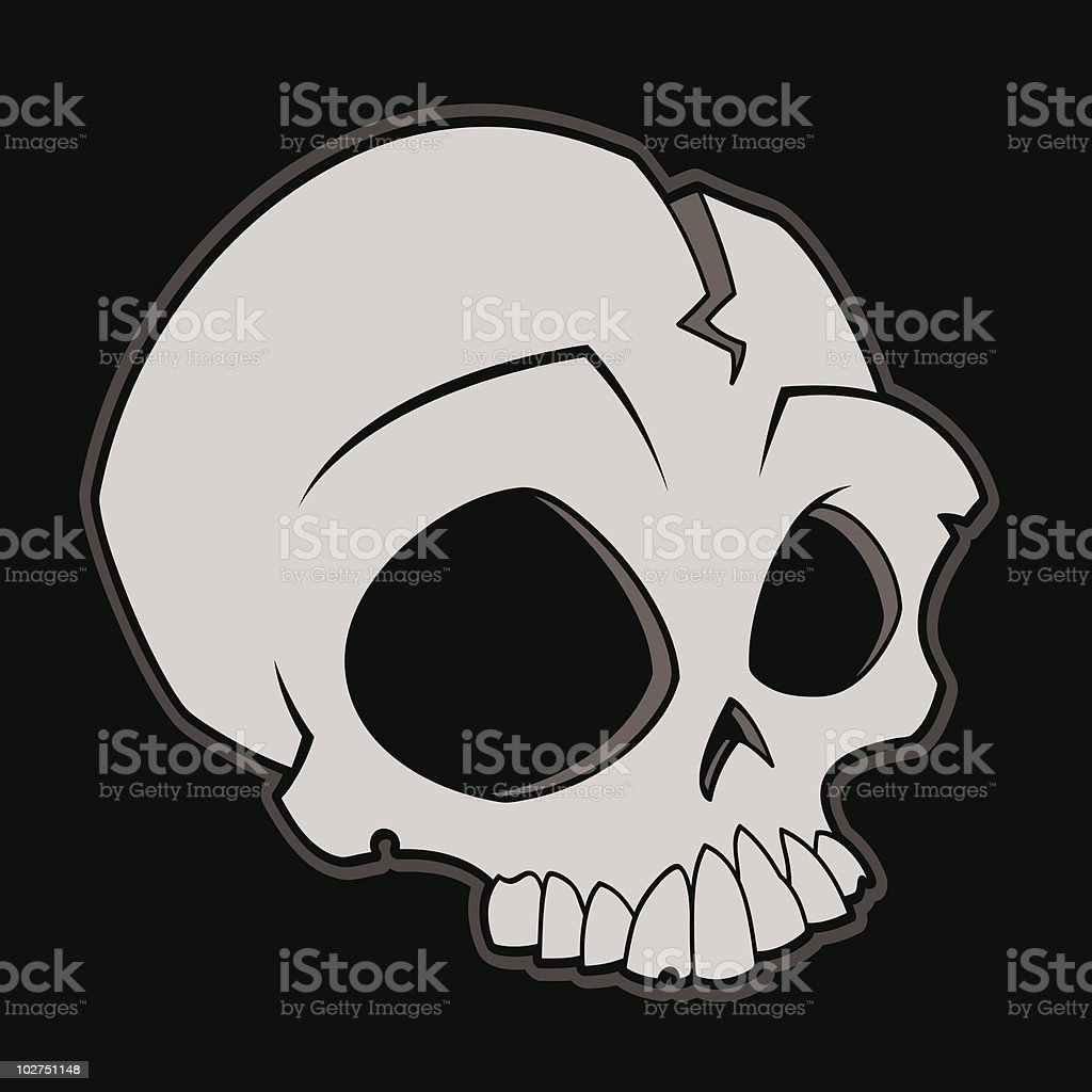 Cartoon Skull vector art illustration