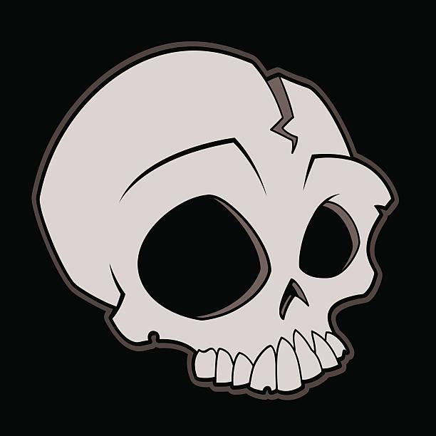 Cartoon Skull vector art illustration