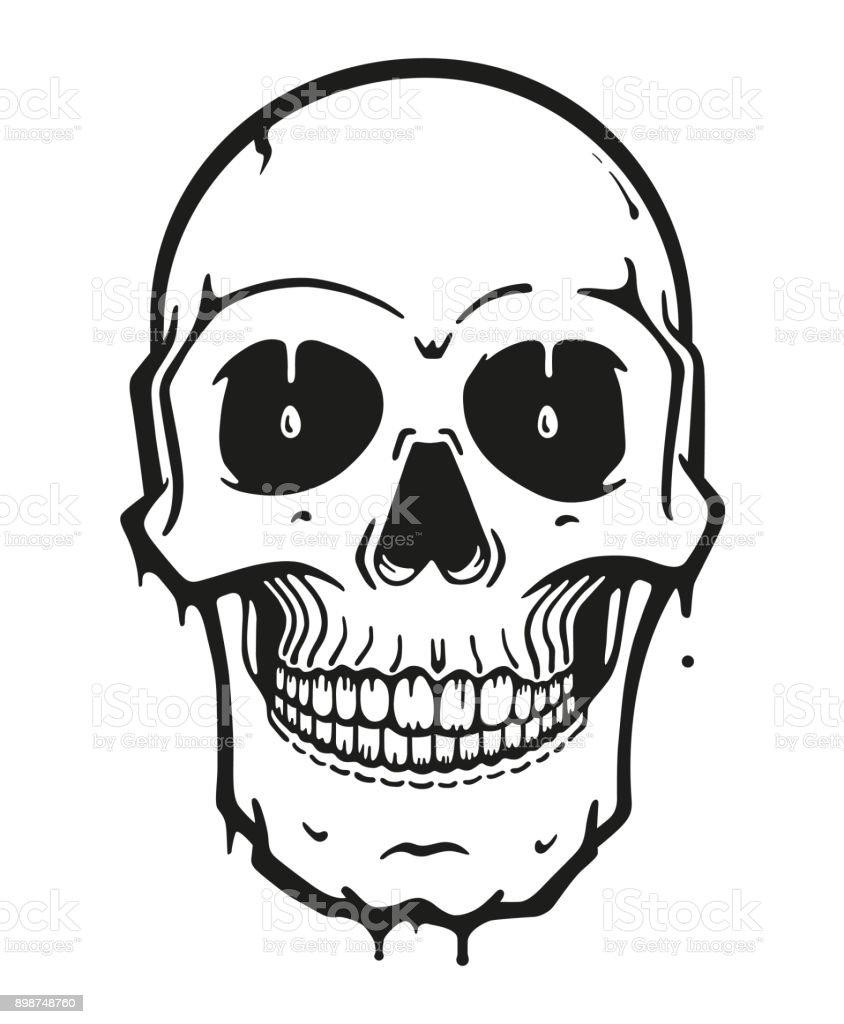 Ilustración de Dibujos Animados Cráneo Vector Ilustración y más ...