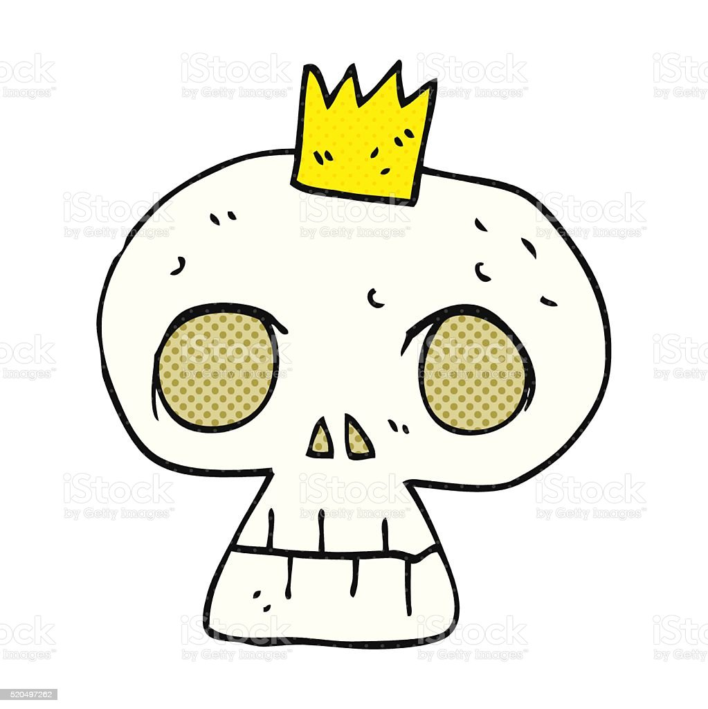 Cartoon Skull With Crown Stock Illustration Download Image Now Istock Cartoon skull and crown and speech bubble sticker vector. 2