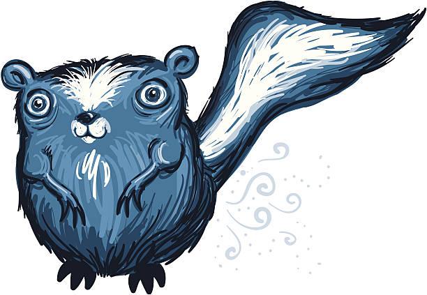 cartoon skunk - skunk stock illustrations