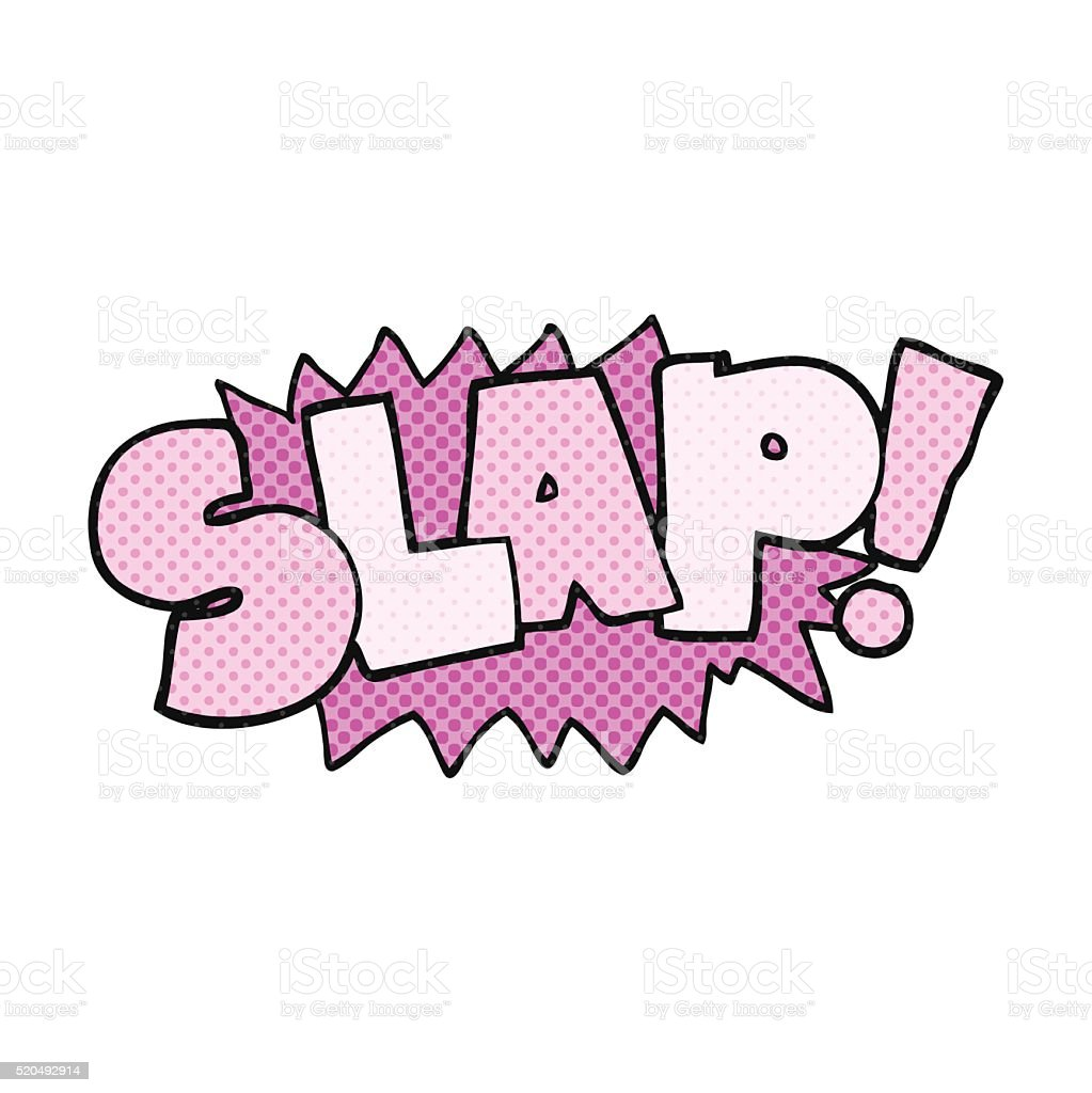 cartoon slap symbol vector art illustration