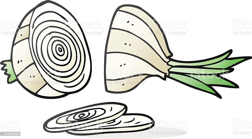 Cartoon Sliced Onion Stock Vector Art & More Images of ...