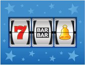 Vector illustration of slot machine