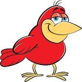 Cartoon smiling bird.