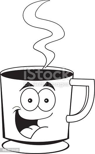 cartoonl chelnden kaffeetasse stock vektor art und mehr bilder von ausmalen 692915538 istock. Black Bedroom Furniture Sets. Home Design Ideas