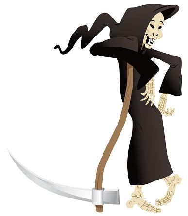 Dibujos animados de la muerte sonriente