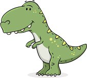 cartoon / smiling dinosaur