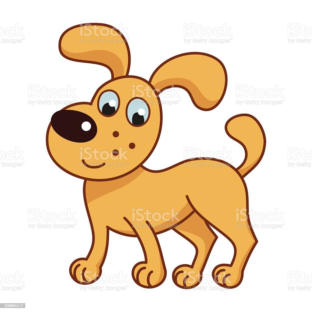 Cartoon Smiling Golden Puppy Cute Funny Naughty Dog Stock Illustration Download Image Now Istock