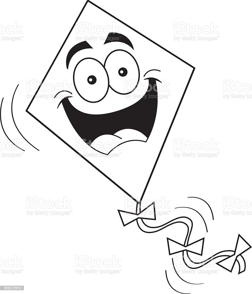 cartoon smiling kite stock vector art 625272912 istock