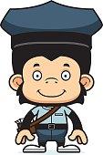 istock Cartoon Smiling Mail Carrier Chimpanzee 478354974