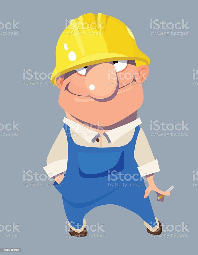 cartoon smiling man worker in helmet royalty-free cartoon smiling man worker in helmet stock vector art & more images of adult
