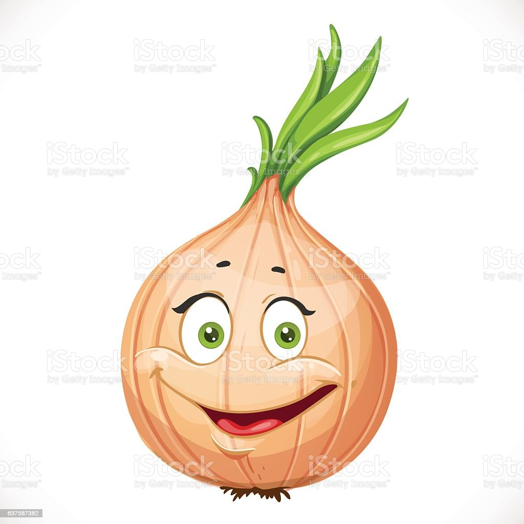Cartoon Smiling Onions Stock Vector Art & More Images of ...