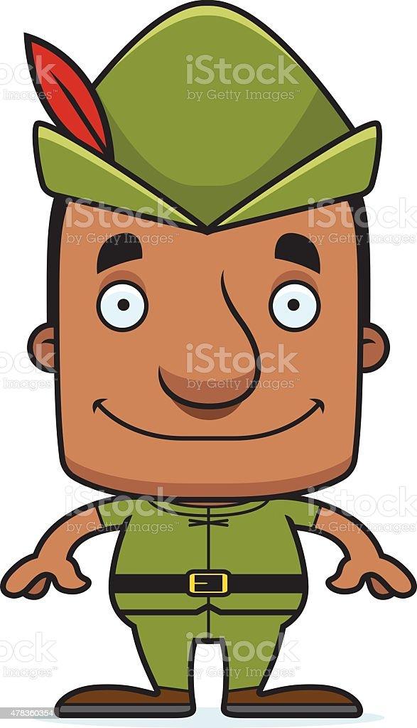ilustração de desenho de homem sorridente robin hood e mais banco de