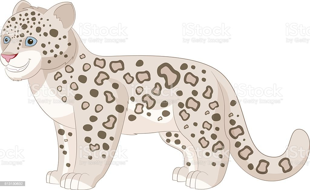 Cartoon baby snow leopard drawing