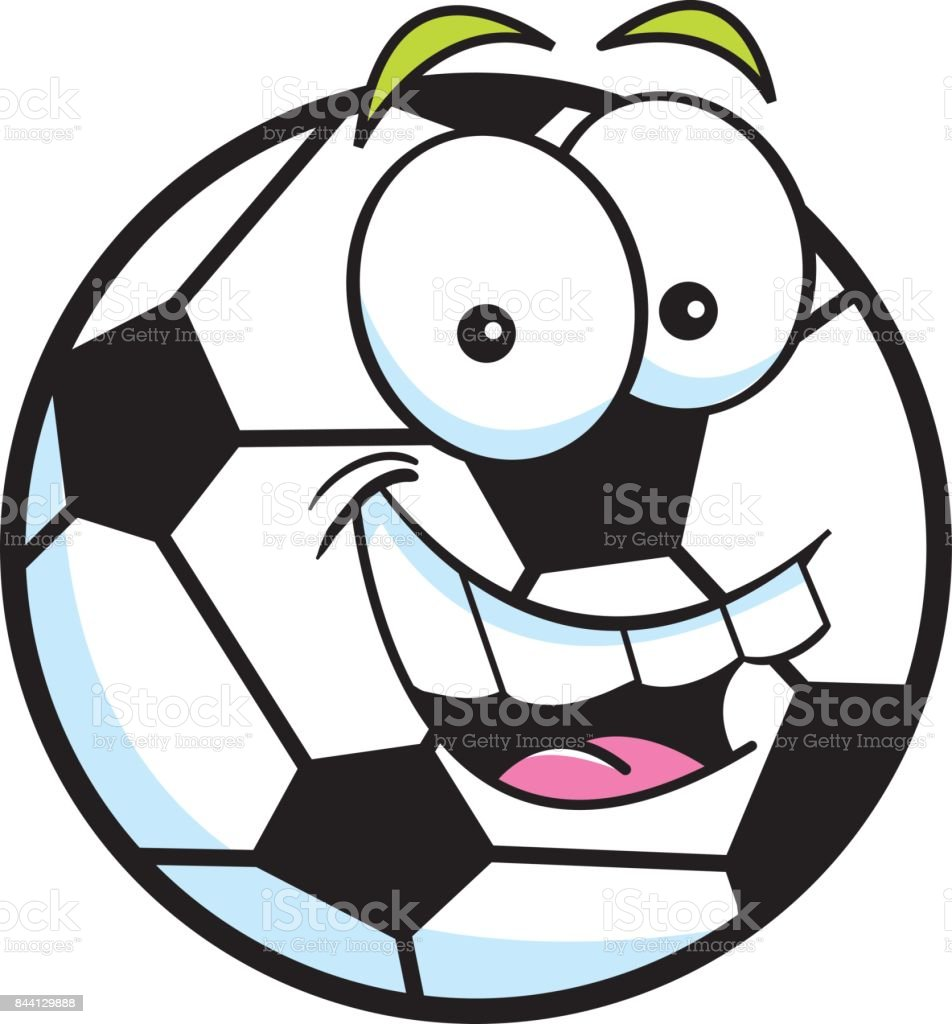 Cartoon Smiling Soccer Ball Stock Illustration Download