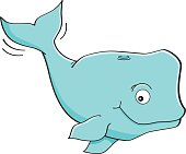 Cartoon smiling whale.