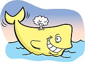 Cartoon smiling whale.