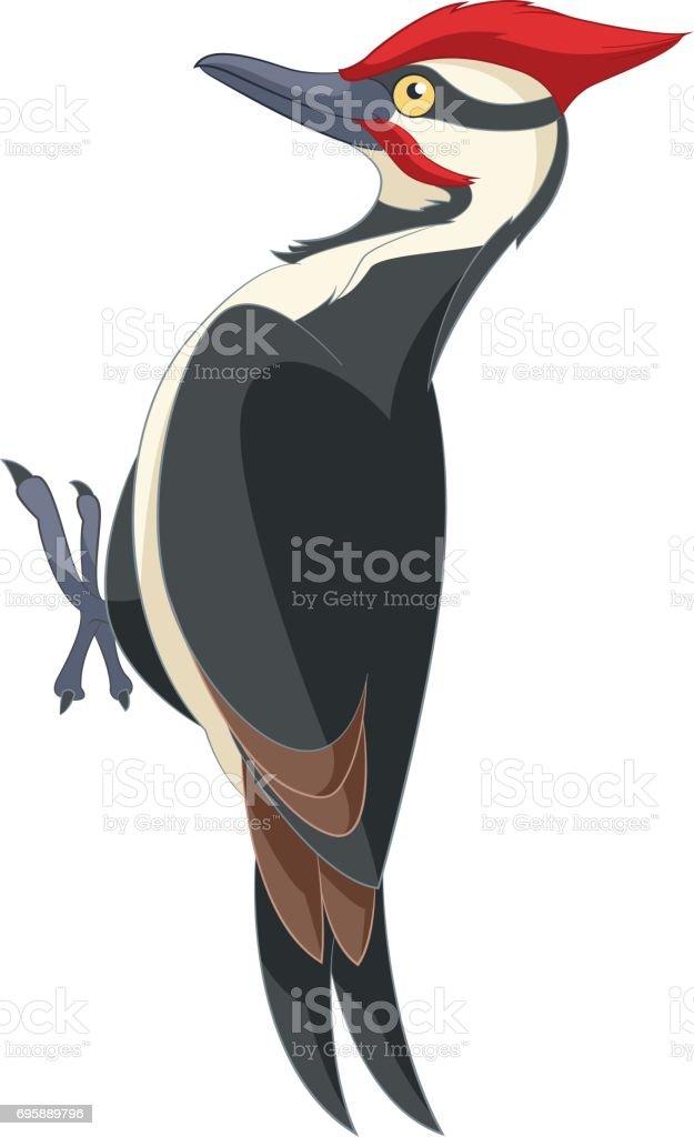 Ilustración De Sonriente De Pájaro Carpintero De Dibujos Animados Y