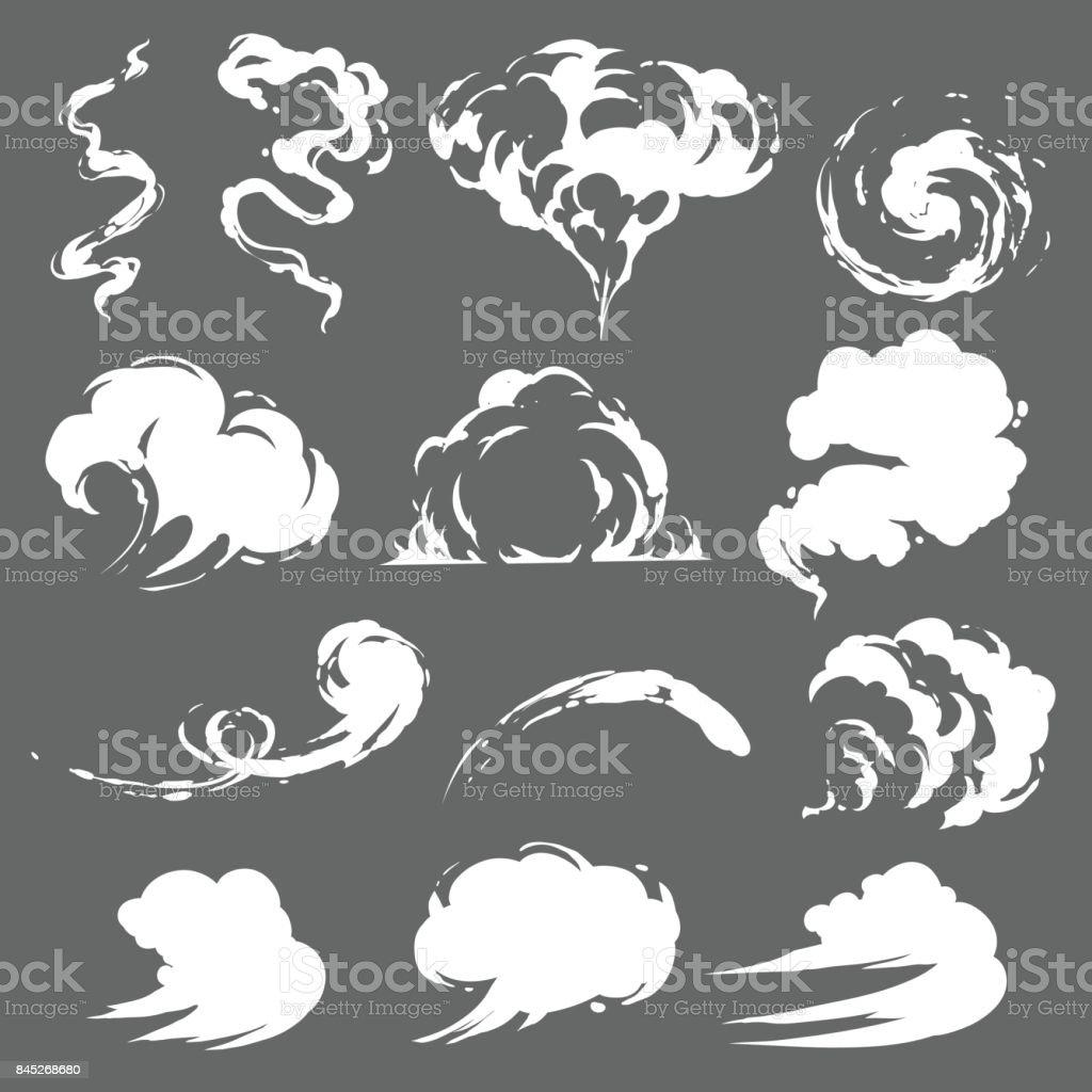 Cartoon smoke set