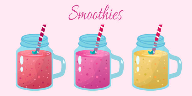Best Banana Smoothie Illustrations, Royalty-Free Vector ...