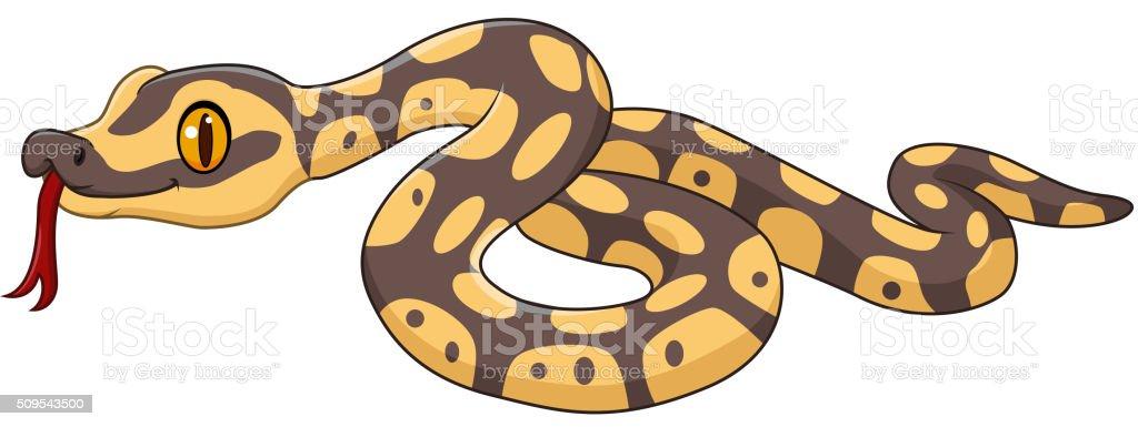 Dessin Animé Serpent personnage de dessin animé de serpent seul sur fond blanc – cliparts