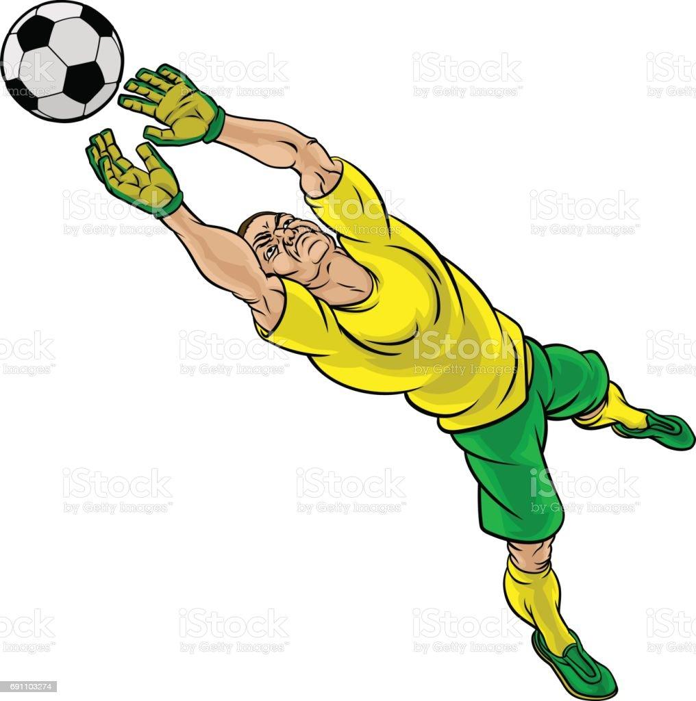 Dessin anim footballeur football gardien de but - Dessin gardien de but ...