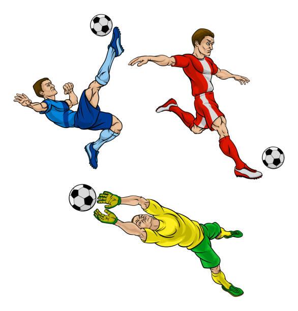 Free Cartoon Soccer Player Vector Art