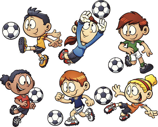 Best Kids Soccer Illustrations, Royalty-Free Vector ...