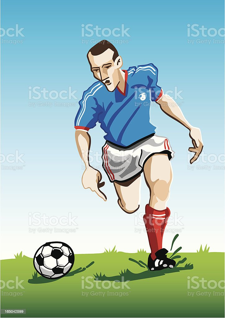 Cartoon Soccer Player Blue royalty-free cartoon soccer player blue stock vector art & more images of adult