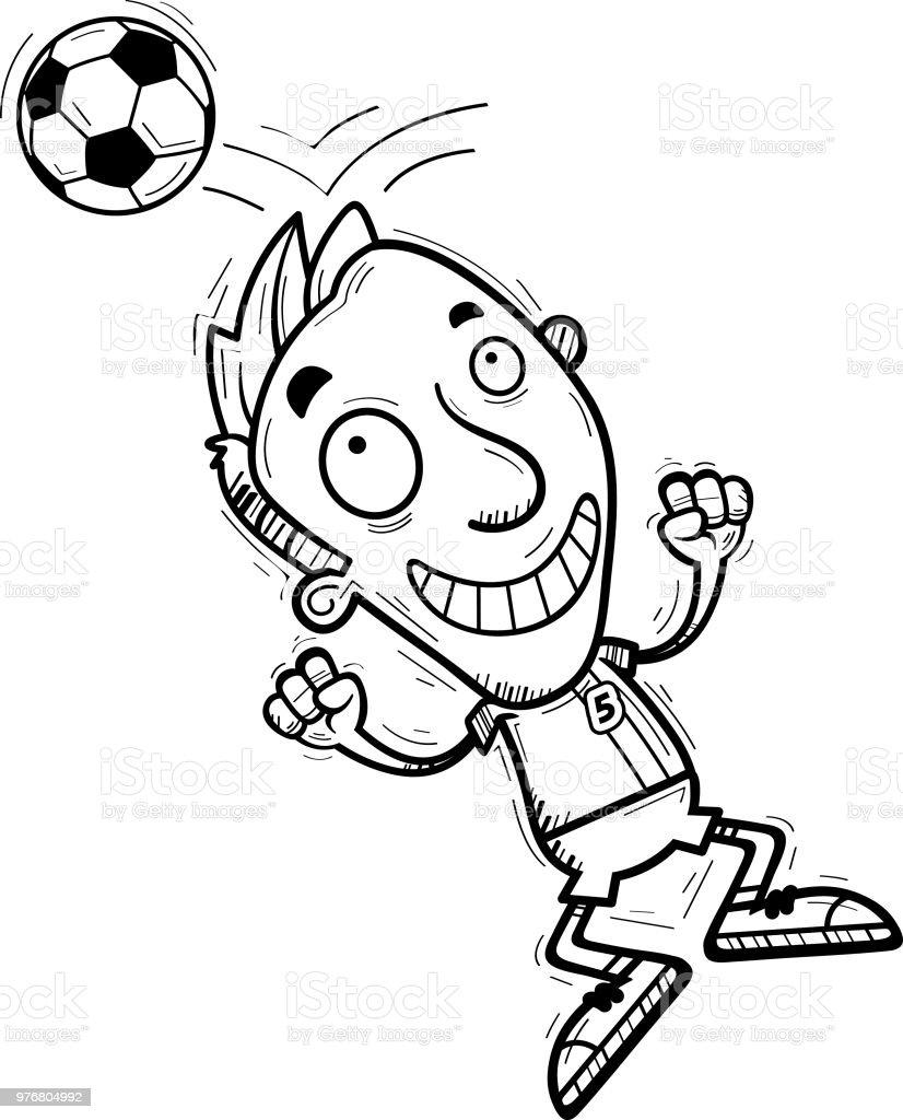 Cartoon Fussball Spieler Uberschrift Stock Vektor Art Und