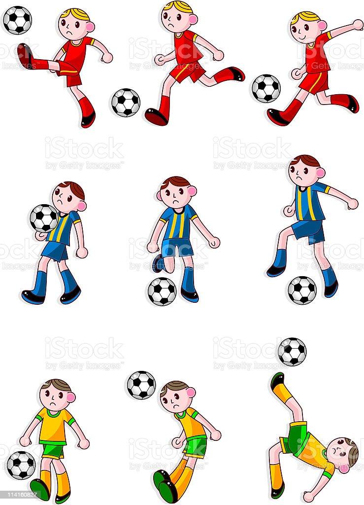 Comic Fussballspielersymbol Stock Vektor Art Und Mehr Bilder