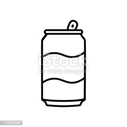istock Cartoon Soda Can Icon Isolated On White Background 1142302367