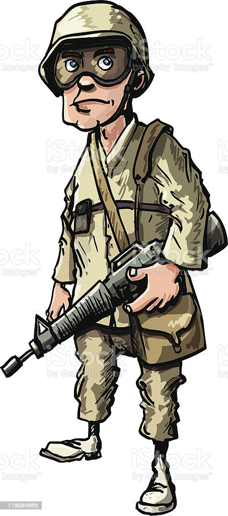 Cartoon soldier in desert camouflage royalty-free cartoon soldier in desert camouflage stock vector art & more images of adult