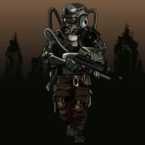 Apocalyptic Soldier Pics: Royalty Free Post Apocalyptic City Clip Art, Vector Images