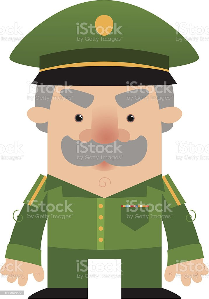 Cartoon soldier Officer royalty-free cartoon soldier officer stock vector art & more images of adult