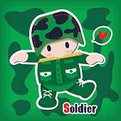 cartoon soldier sticker