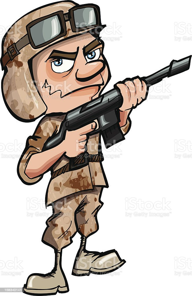 Cartoon Soldier royalty-free cartoon soldier stock vector art & more images of adult