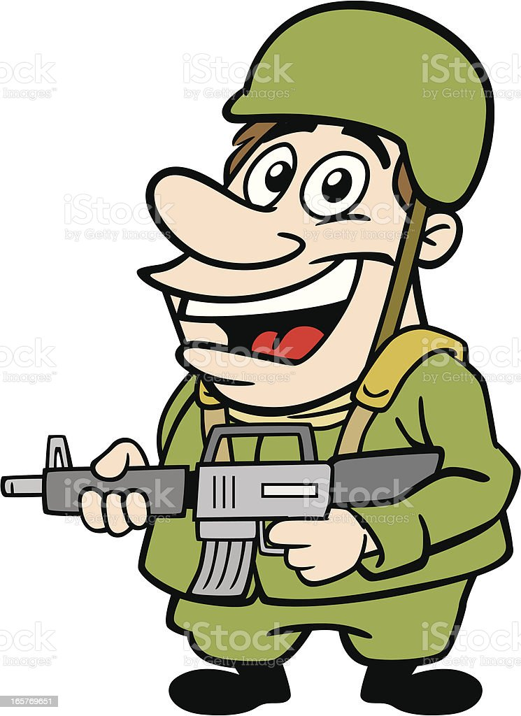 cartoon soldier stock vector art  u0026 more images of adult 165769651