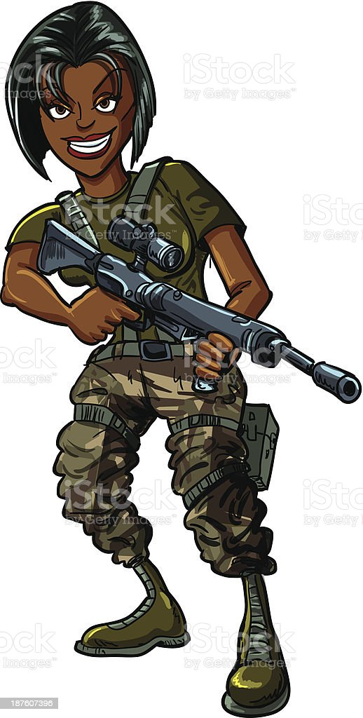 Cartoon Soldier With Gun Stock Vector Art & More Images of ... Soldier With Gun Cartoon