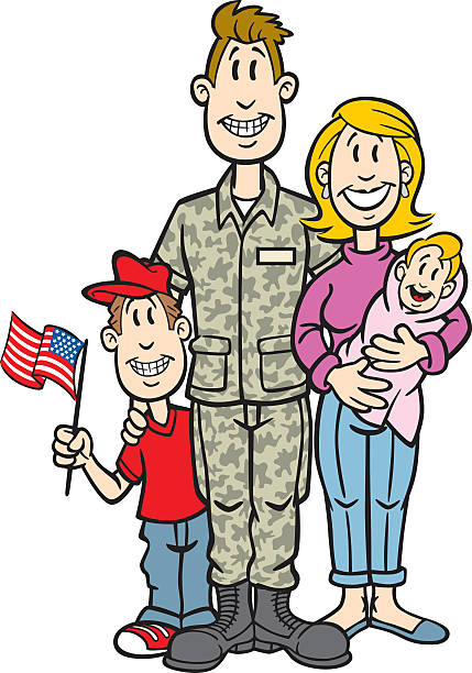 Military Family Illustrations, Royalty-Free Vector ...