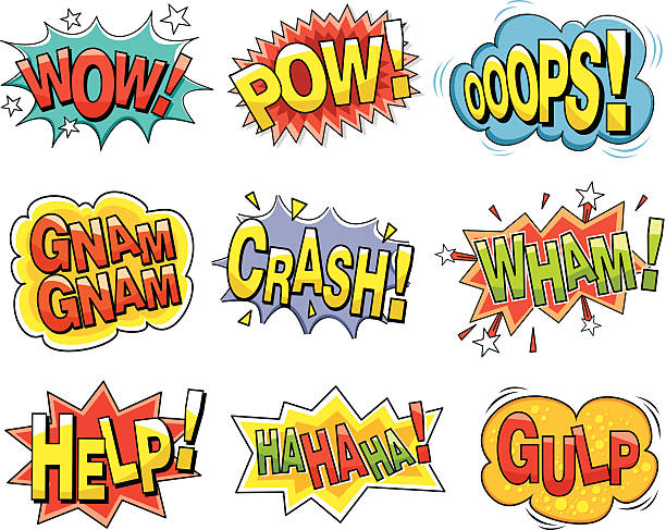 cartoon sound effects - 宏偉的 幅插畫檔、美工圖案、卡通及圖標