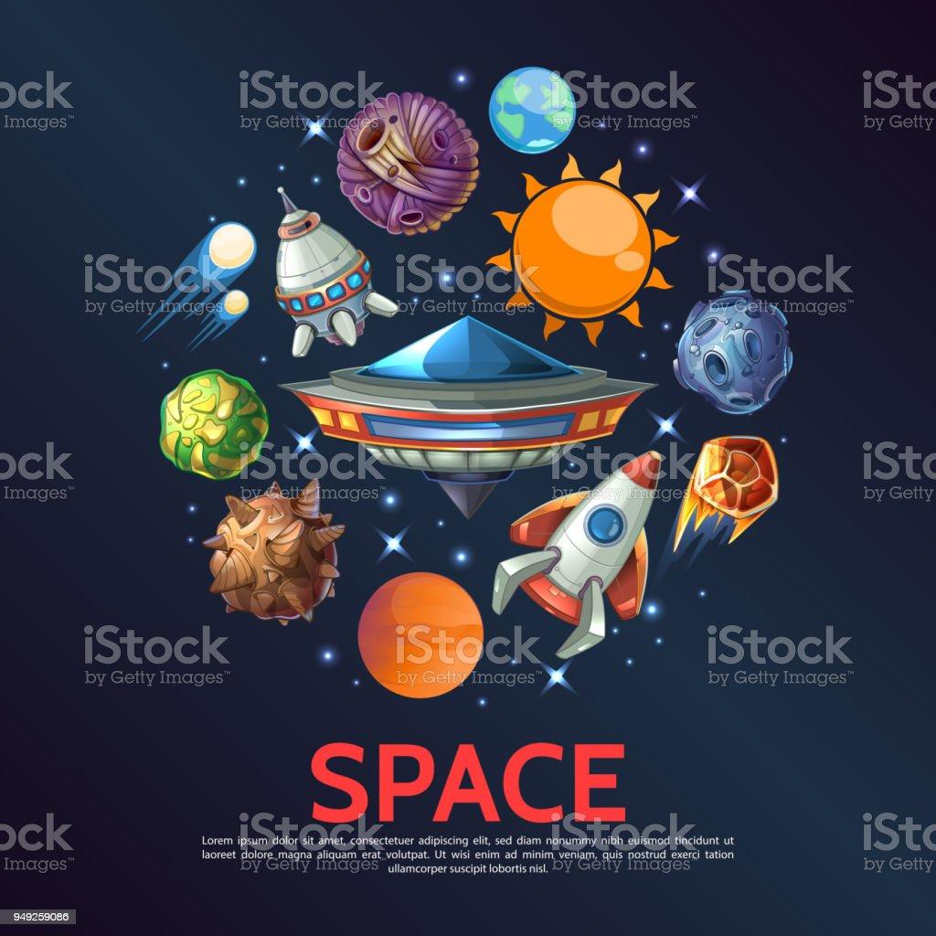 Cartoon-Platz runden Konzept – Vektorgrafik