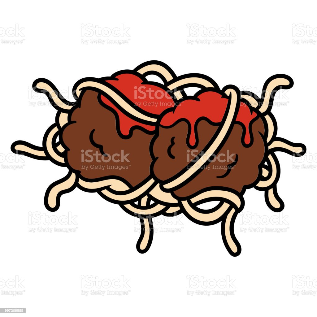 Cartoon Spaghetti And Meatballs Stock Vector Art More Images Of