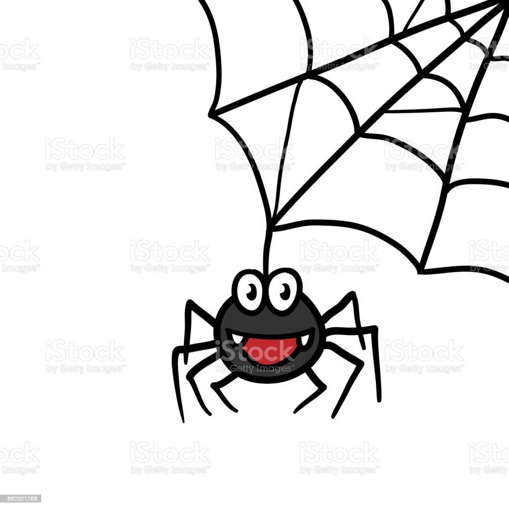 Web Y Araña Dibujos Animados - Arte vectorial de stock y más ...