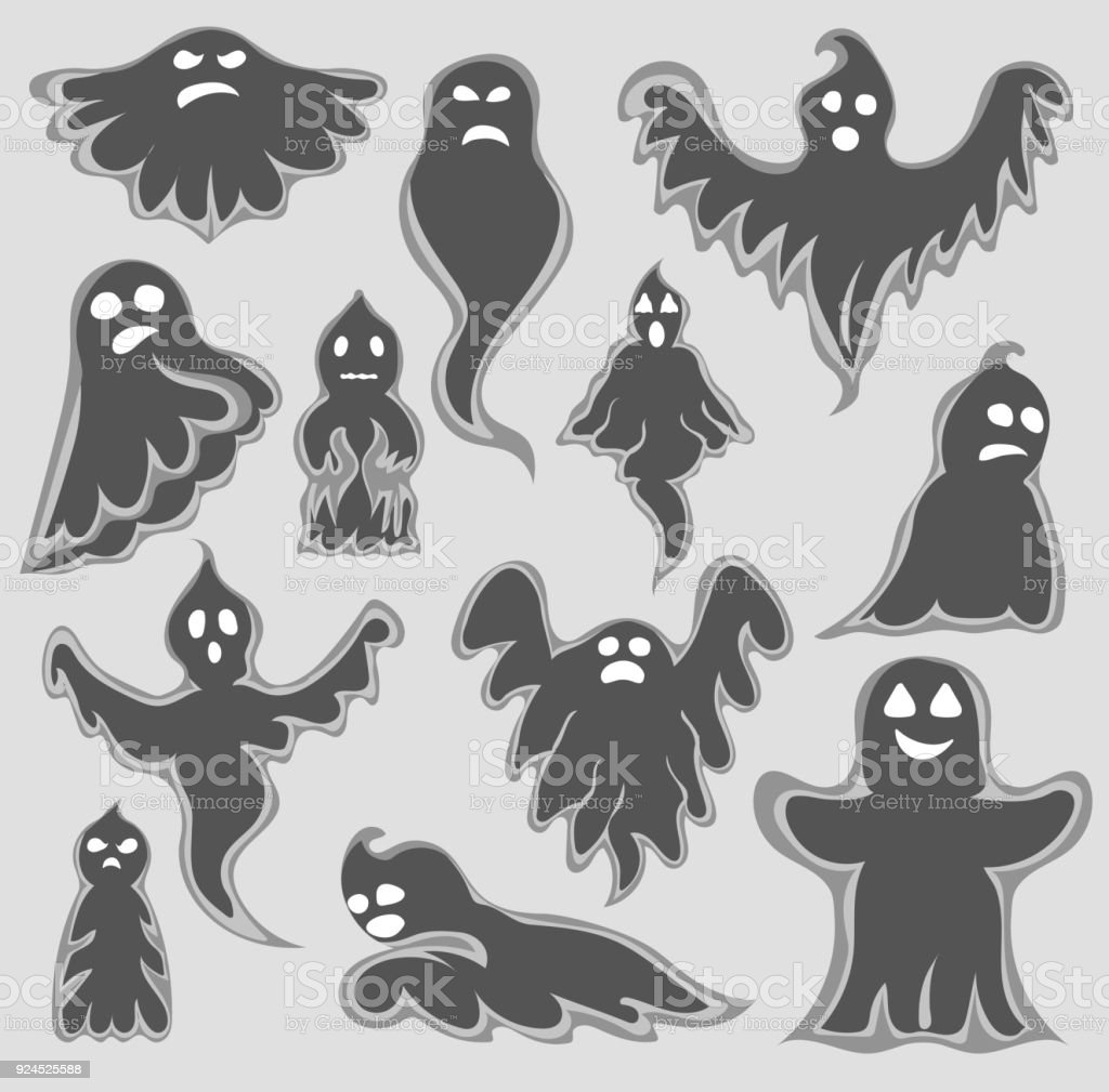 Cartoon spooky ghost character vector set halloween scary holiday cartoon spooky ghost character vector set halloween scary holiday monster design ghost character costume publicscrutiny Images