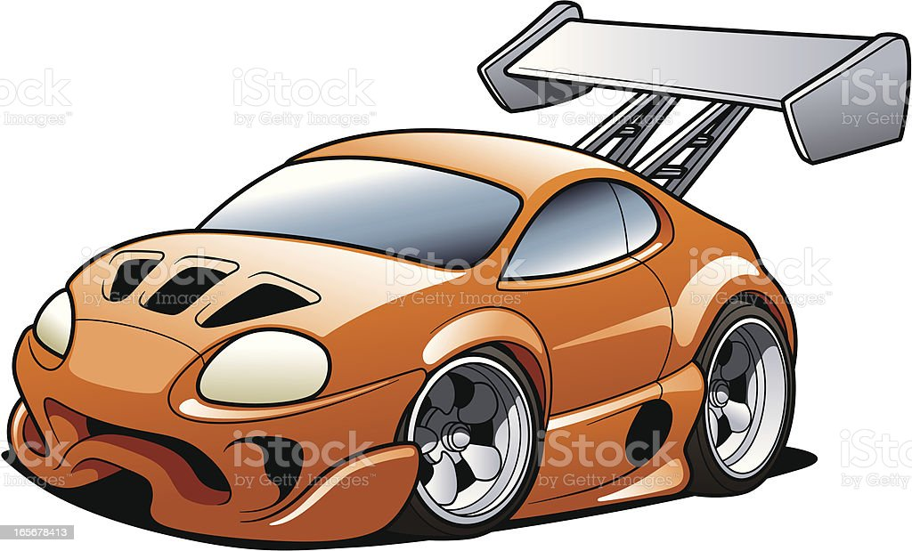 Cartoon Sports Car vector art illustration