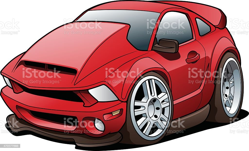 Cartoon Sports Car royalty-free cartoon sports car stock vector art & more images of car