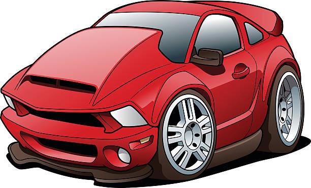 Cartoon Sports Car vector art illustration
